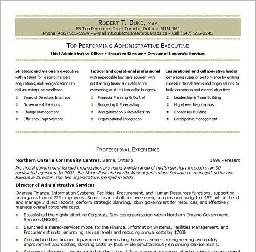 Business resume writing services